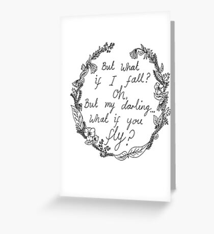 Peter Pan - What If You Fly? Greeting Card