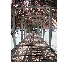 Walk on the sea - Martinique - FWI Photographic Print