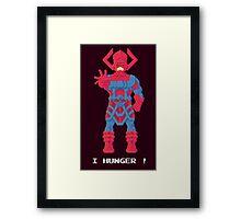 Galactus - Marvel Pixel Art Framed Print