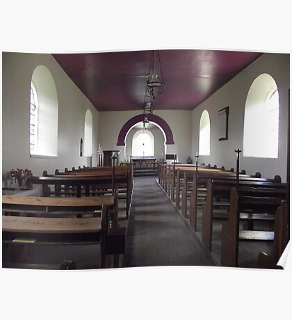 Interior of St. Michael & All Saints. Poster