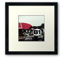 81 Framed Print