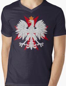 Polish Eagle Maltese Cross Mens V-Neck T-Shirt