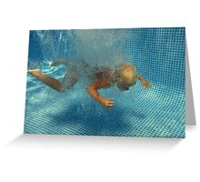 underwater 2 - mission impossible Greeting Card