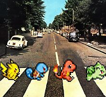 Kanto Starters on Abbey Road by jamden37