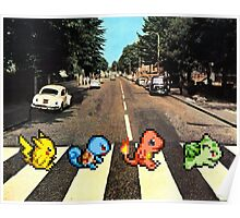 Kanto Starters on Abbey Road Poster