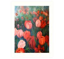 Pink Tulips [001] Art Print