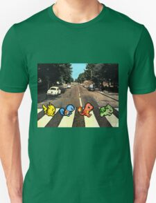 Kanto Starters on Abbey Road T-Shirt