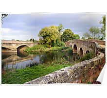 River Avon, Pershore, Worcestershire Poster