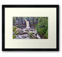Waterfall Over the edge Framed Print