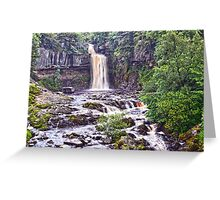 Waterfall Over the edge Greeting Card