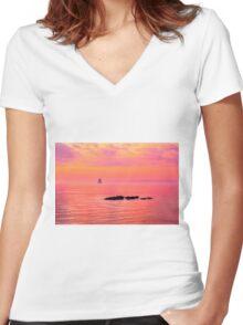 Ebb Tide Women's Fitted V-Neck T-Shirt
