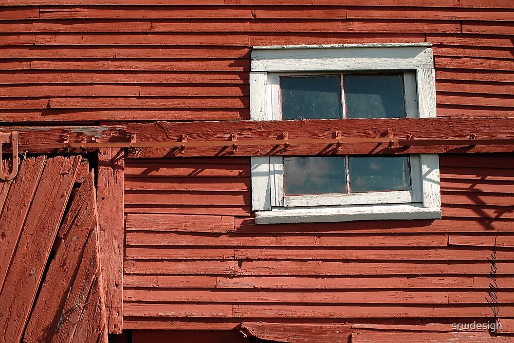 Red Barn White Window by Susan R. Wacker
