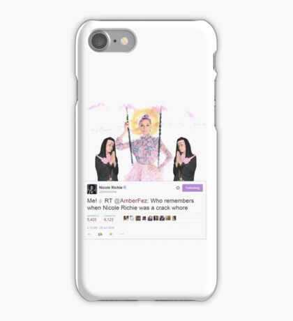 "Nicole Richie ""Me! ✋"" iPhone Case/Skin"