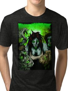 Zombies Want Brains Tri-blend T-Shirt