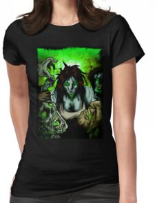 Zombies Want Brains Womens Fitted T-Shirt