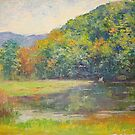 Mountain lake by Julia Lesnichy