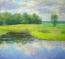 Creek in August by Julia Lesnichy