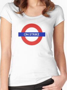 London Undeground - On Strike Women's Fitted Scoop T-Shirt