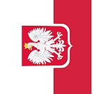 Vintage Polish Coat of Arms Flag by PolishArt