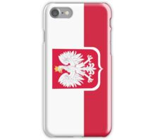 Vintage Polish Coat of Arms Flag iPhone Case/Skin