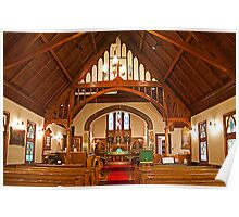 The Interior, St. John the Evangelist Anglican Church. 1897. Poster