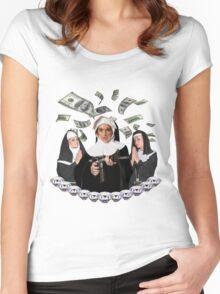Lindsay Lohan; Paris Hilton; Nicole Richie 'Bless You Bitch' Women's Fitted Scoop T-Shirt