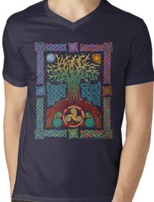 Celtic Tree of Life Mens V-Neck T-Shirt