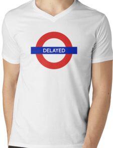 London Undeground - Delayed Mens V-Neck T-Shirt