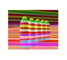 Inverted Colour Bombs Art Print