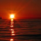 Lake Erie sunset by Marcia Rubin