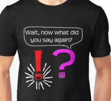 Question mark meets exclamation Unisex T-Shirt