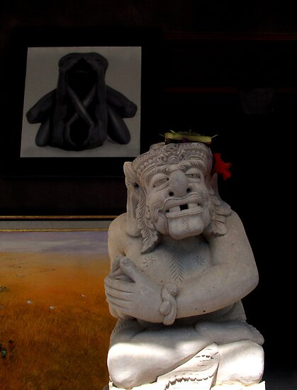 welcoming face at Ubud, art and cultural centre of Bali. by geof