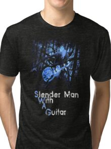 Slender Man with Guitar - SWAG version Tri-blend T-Shirt