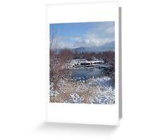 Dawn Mist, Summit County Colorado Greeting Card