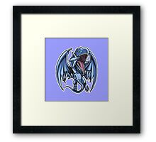 Blue-Eyes White Dragon Icon - Yugioh! Framed Print