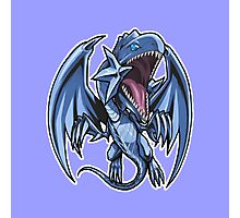 Blue-Eyes White Dragon Icon - Yugioh! Photographic Print