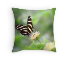 """ Zebra Longwing "" Throw Pillow"