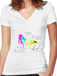 Shed Color Women's Fitted V-Neck T-Shirt