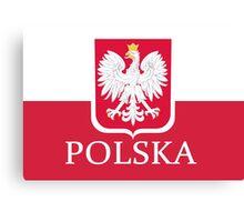 Patriotic Polish Polska Flag Canvas Print
