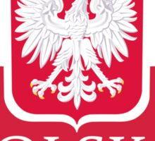 Patriotic Polish Polska Flag Sticker