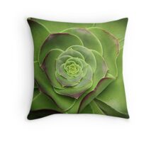 Green Aeonium Throw Pillow