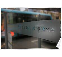 lygon st morning. carlton - melbourne Poster