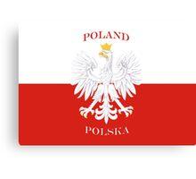 Retro Polish Polska Flag Canvas Print