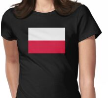 Patriotic Flag of Poland Womens Fitted T-Shirt
