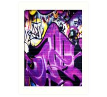Grafitti Wall 1 Art Print