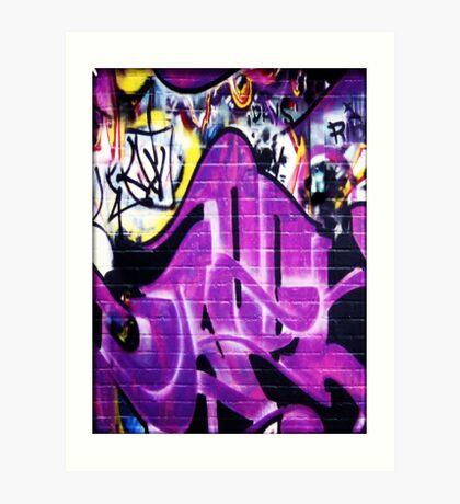 Grafitti Wall 1 Art Print