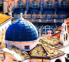 The Essence of Croatia - Red Terracotta Rooftops of Dubrovnik Sticker