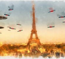 Invasion of Paris by Raphael Terra by esotericaart