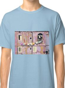 The Essence of Croatia - Pastel Houses of Dubrovnik Classic T-Shirt