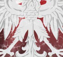 Polish Flag Eagle Heart  Sticker
